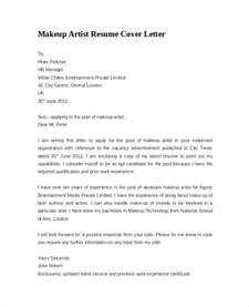 makeup artist cover letter resume cover letter exle 8 documents in pdf