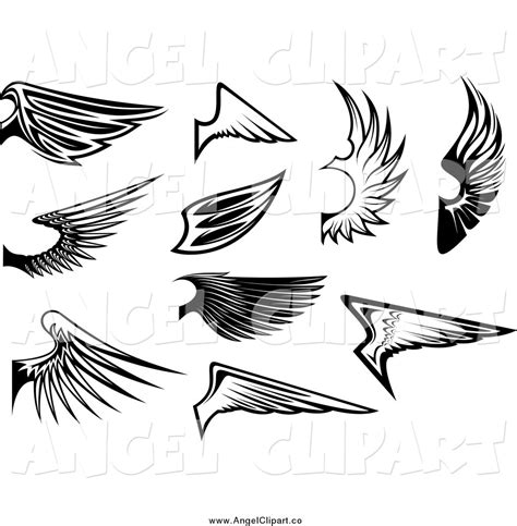 black and white angel wings tattoo designs wings