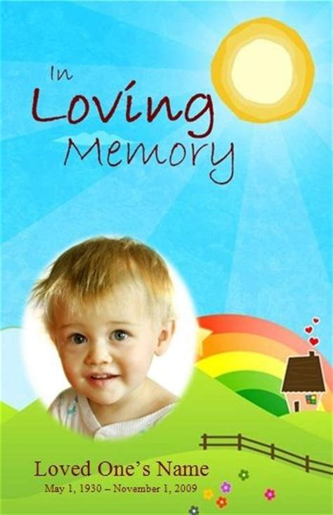 child funeral program template order of service template funeral memorial and order of