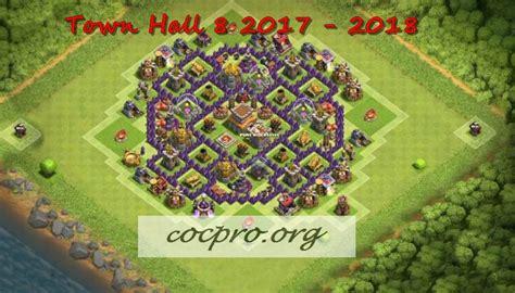 layout coc th 8 anti rok latest th8 farming trophy defensing war base layouts