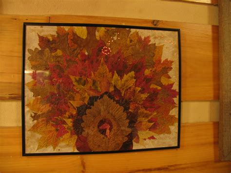 Turkey Turkey Turkey I Made It Out Of Clay Oh Wait Wrong by Turkey Picture Made From Real Fall Leaves