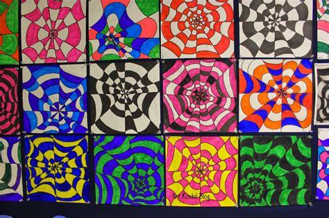 Pattern Art Grade 5 | art rocks grade 5 op art