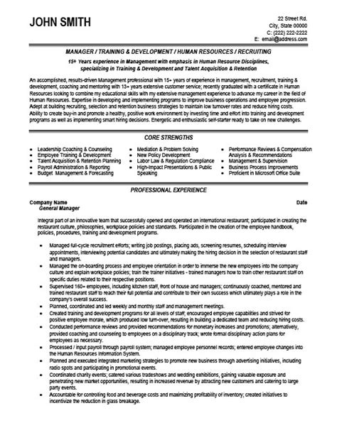 general manager resume template general manager resume template premium resume sles