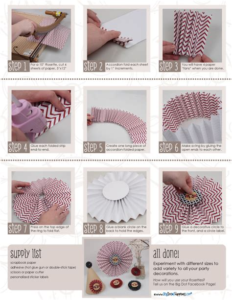 How To Make A Paper Fan Decoration - tutorial rosette decorations big dot of happiness