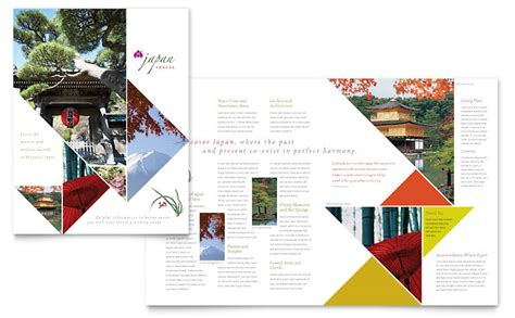 tour brochure template japan travel brochure template word publisher