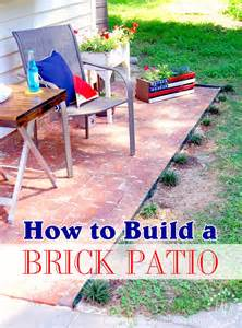 How To Brick A Patio by How To Build A Brick Patio The Scrap Shoppe