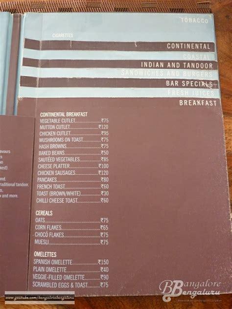 hsr layout club menu menu