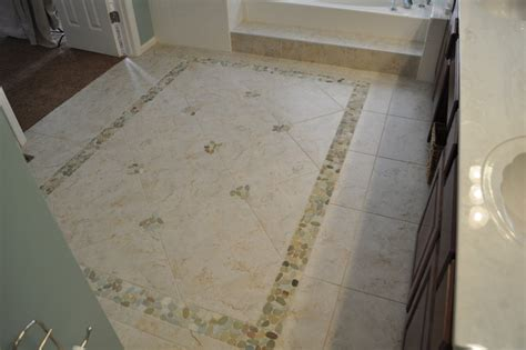 rugs for bathroom floor chesterfield mo bathroom tile area rug with pebbles traditional bathroom st louis