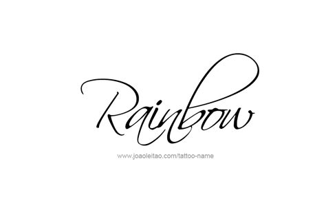 best word tattoo designs rainbow name designs tattoos with names