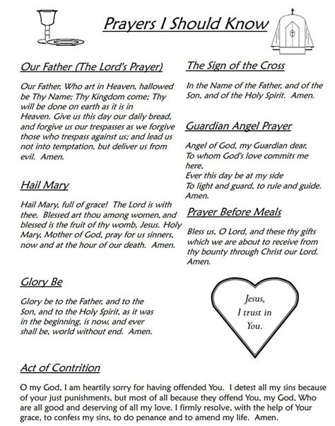 catholic prayer for catholics prayers every catholic should these