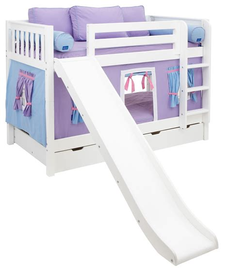 girls twin loft bed top bunk beds for girls