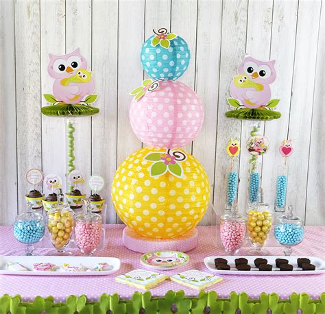 baby shower decorations cute owl baby shower ideas