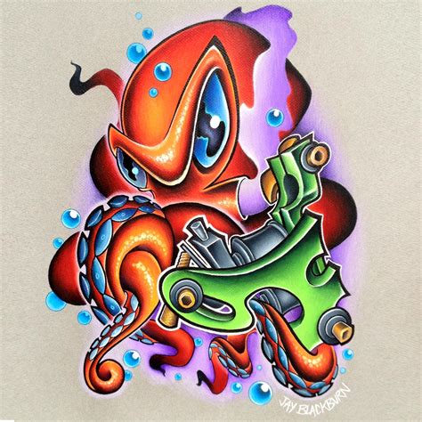 new school tattoo flash art jay blackburn tattoonow 2014