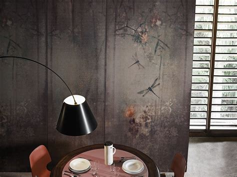 wallpaper wall and deco wallpaper with floral pattern libellula contemporary