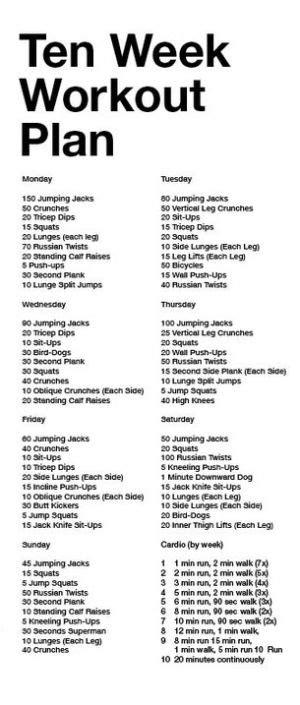 10 week workout plan by tara1209 workout