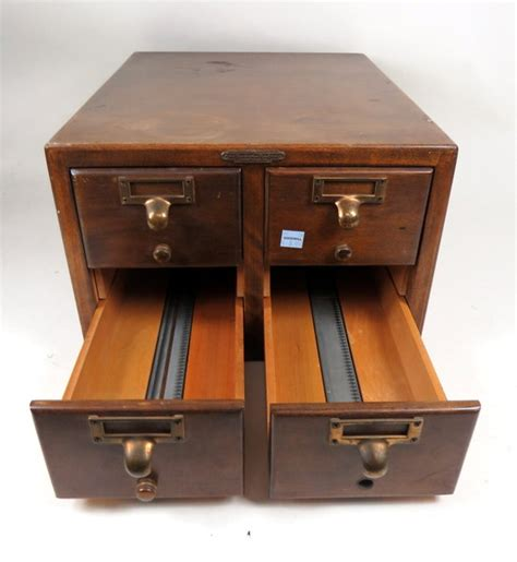index card file cabinet antique remington rand maple 4 library index card
