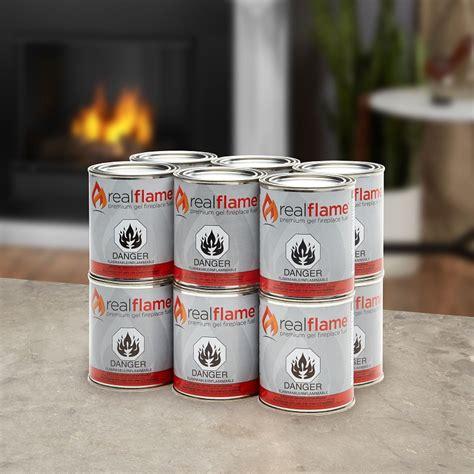 Fireplace Gel Fuel Cans by Real Gel Fuel 12pk 16pk 24pk