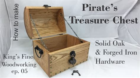 pirates treasure chest  oak forged