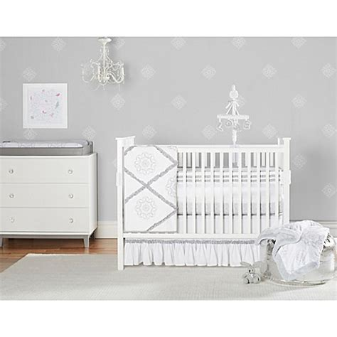 Just Born Crib Bedding Just Born 174 Ruffled Medallions Crib Bedding Collection Bed Bath Beyond