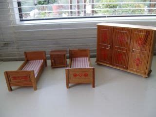 Schlafzimmer 50iger Jahre by Antikspielzeug Puppen Zubeh 246 R Puppenstubenzubeh 246 R