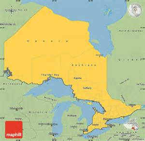 simple map of canada savanna style simple map of ontario