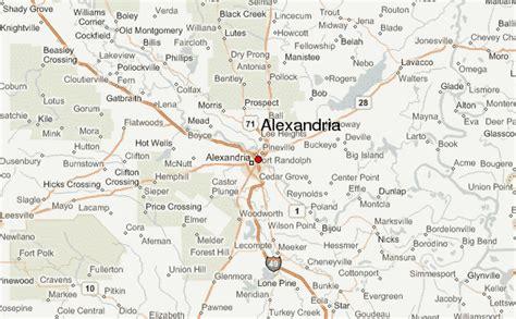 louisiana map alexandria alexandria louisiana location guide