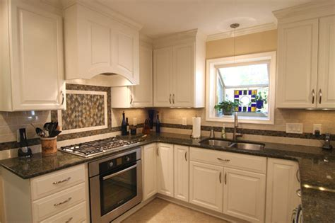 White Kitchen Cabinets Black Granite Countertops Beautiful White Kitchen Cabinets With Granite Countertops Mykitcheninterior