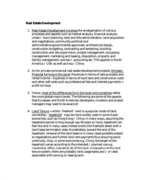 sample real estate proposal template   documents    word
