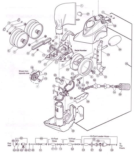 polaris pool parts diagram parts for polaris 380 pool cleaners polaris 380