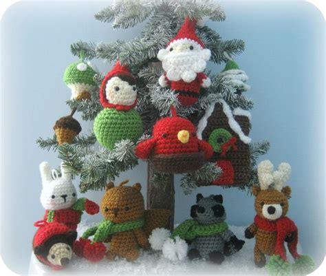 amigurumi pattern for christmas amigurumi crochet woodland christmas ornament pattern set