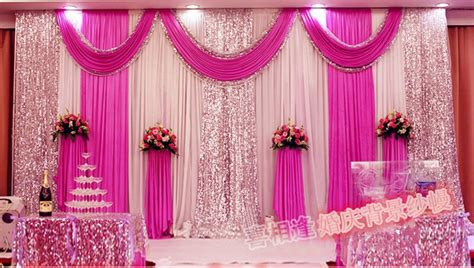 Home Design 3d Outdoor App Fashion Fuchsia Color Wedding Backdrops With Swag Wedding
