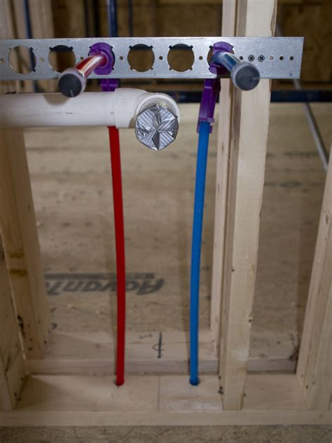 plumbing with and blue pex new hudson valley