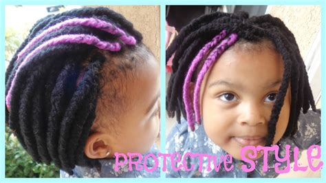 natural hair braids for kids protective style yarn braids