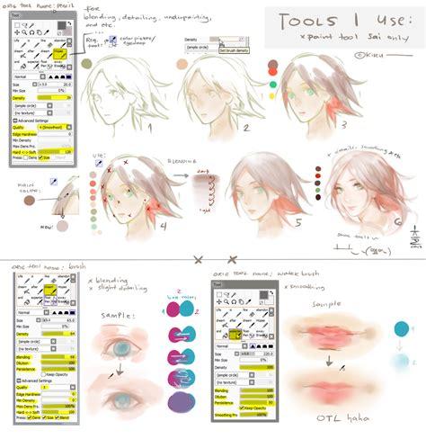 watercolor tutorial sai sai tools i use settings a bit tutorial by keerou