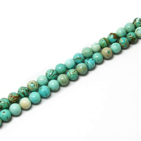 Aliexpress.com : Buy high quality 6mm Turquoise Round Beads Natural15'' For fashion necklace