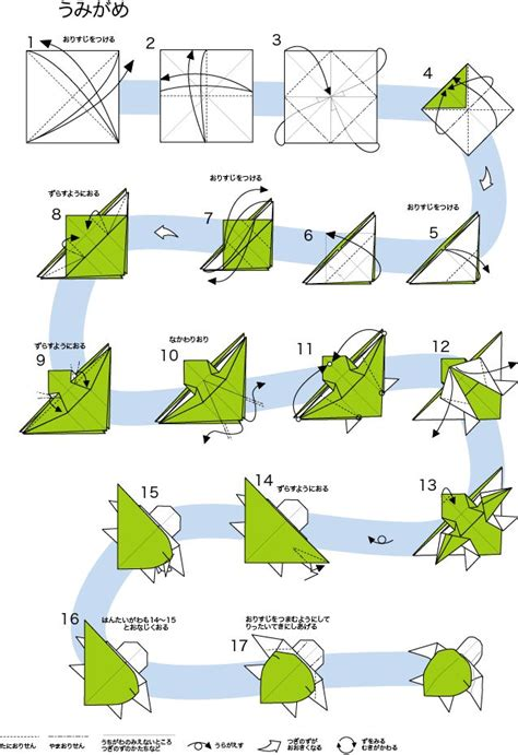 Origami Turtle Diagram - 1000 images about craft origami turtle on