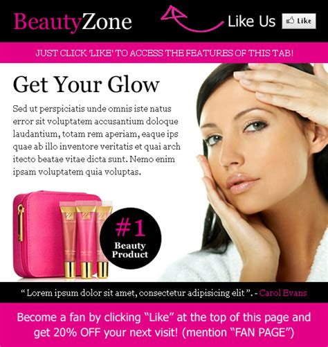 beauty product selling html template 3 ppv landing page