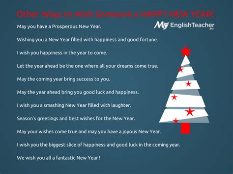 other ways to wish someone a happy new year