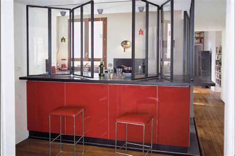 agréable Mur De Chambre En Bois #5: verriere-pliante-sur-bar-cuisine.jpg