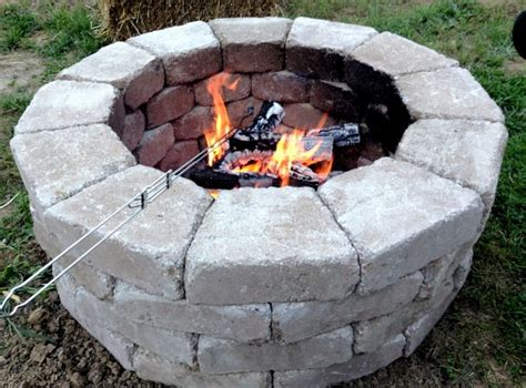 Home Depot Firepits Fast And Easy Pit Stones Came From Home Depot And Cost Less Then 100 To Build Home