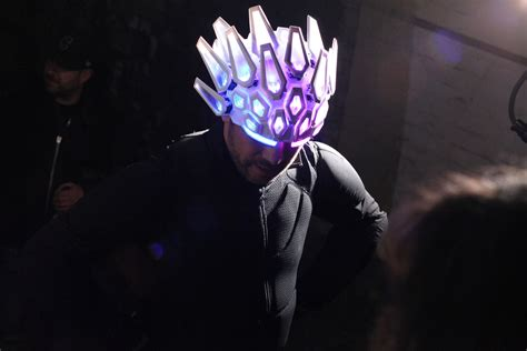 hats with lights on them jamiroquai music video features pangolin inspired 3d