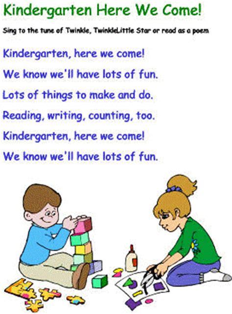 kindergarten poems kindergarten here we come
