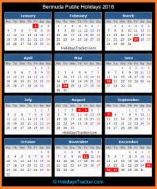 Fiji Kalendar 2018 Bermuda Holidays 2016 Holidays Tracker