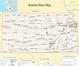 kansas united states map kansas state map a large detailed map of kansas state usa