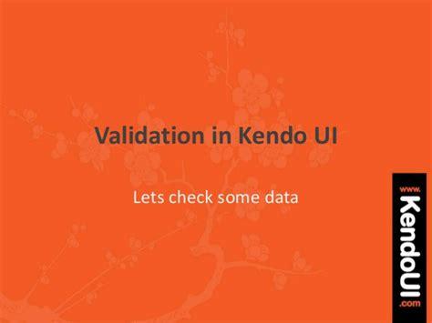 kendo ui pattern validation mvvm validation with kendo ui