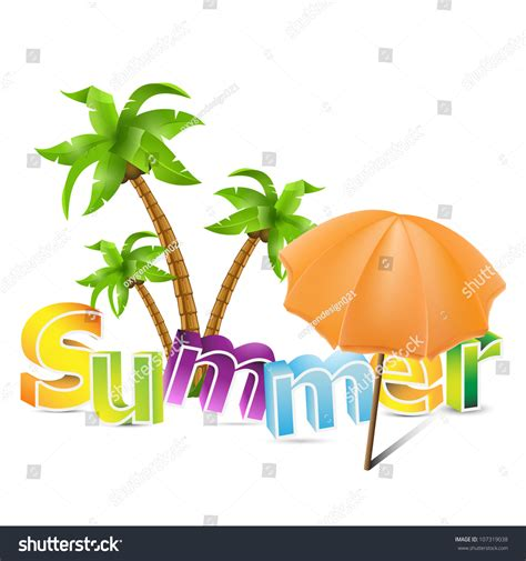 summer themes summer theme interesting set colorful boxy stock vector