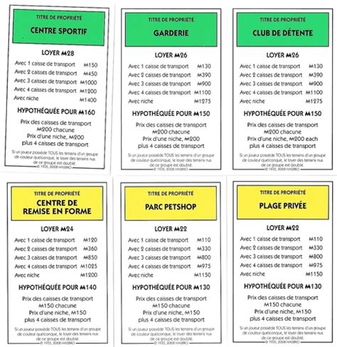 Original Monopoly Property Cards Template by Monopoly Littlest Pet Shop Image Boardgamegeek
