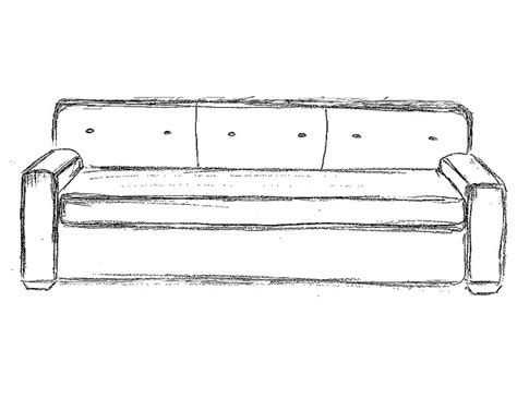 sofa drawing sofa line drawing