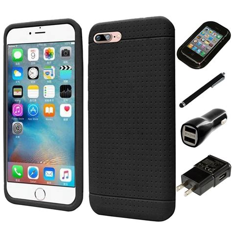 apple iphone   rugged thick silicone grip soft