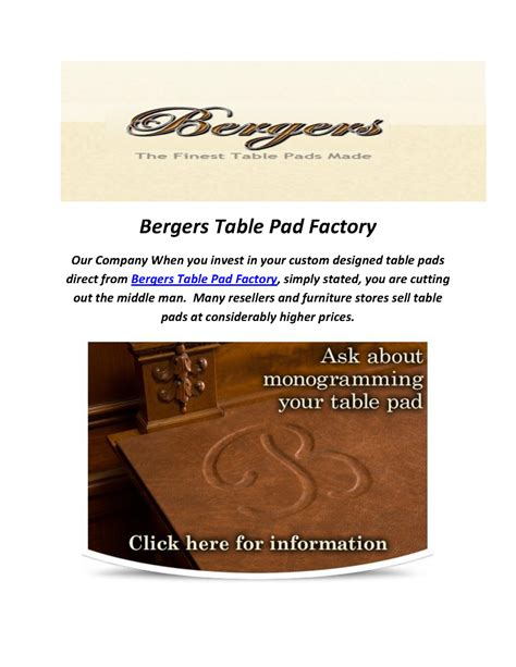 bergers custom table pads table pads for dining room tables authorstream